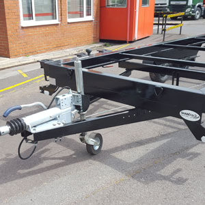 Container trailer with 3.5 tonne GVW and 2.5 tonne payload.