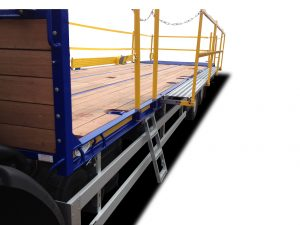 Ladder access Pull out walkway edge protection system