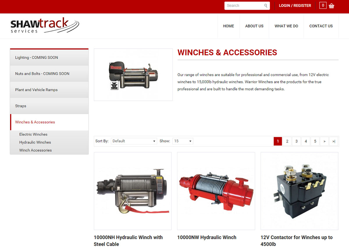 Ecommerce preview Winches