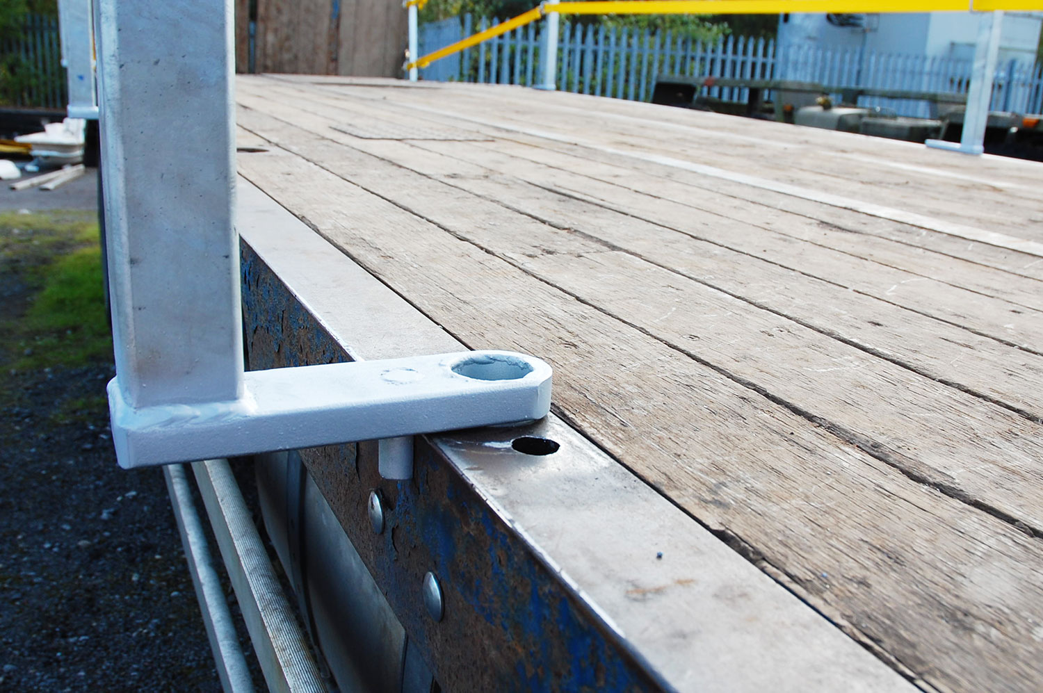 Swing out edge protection retrofit for NMC